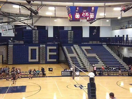 Oswego East High School Volleyball Flooring