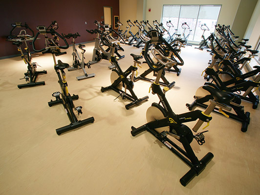 Indiana State University - Exercise Room Floor