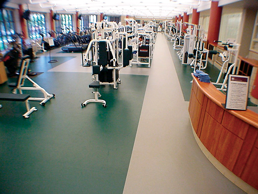 Carlton College - Fitness Room Flooring