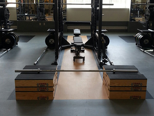 DePauw University Strength Room Flooring