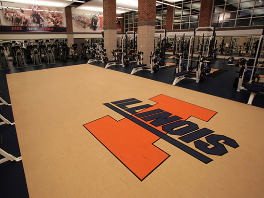 University Of Illinois - Strength Training Flooring