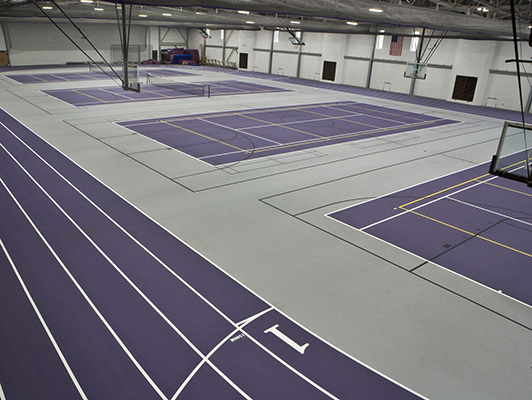 Cornell College Tennis Flooring
