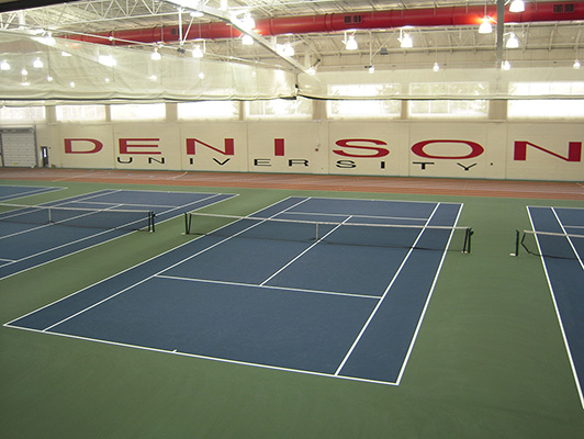 Denison University Tennis Court Flooring