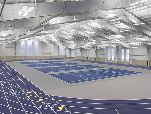 Hillsdale College Tennis Flooring