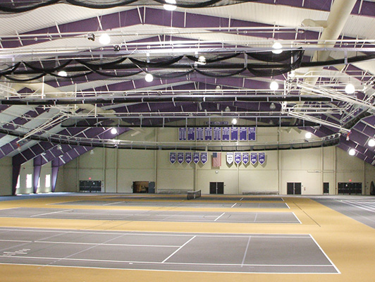 Mount Union University Tennis Flooring