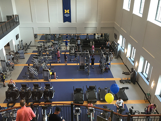 University Of Michigan - Fitness Flooring