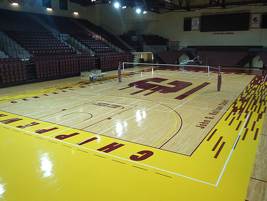 Volleyball Flooring Central Michigan University