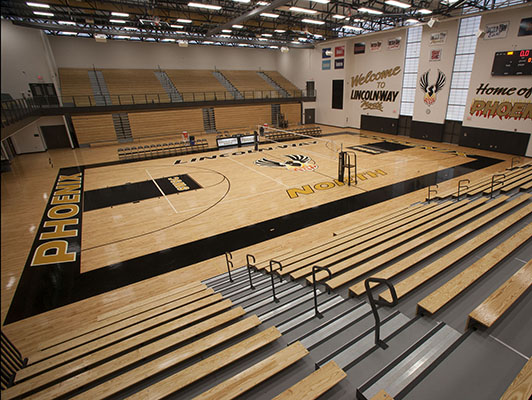 Volleyball Flooring - Lincoln-Way North High School