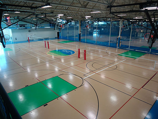 Volleyball Flooring Pleasant Prairie Rec Plex