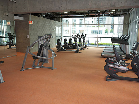Cardio Fitness Flooring - Optima Chicago Center