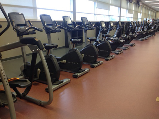 Cardio Fitness Flooring Williston Area Recreational Center