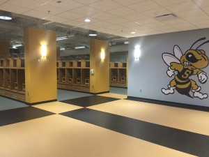 West Virginia State - locker room flooring - Kiefer NE