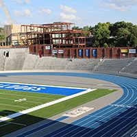 Drake University's Iconic Blue Oval Is Getting A Facelift This Summer